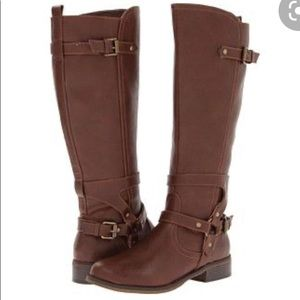 G by Guess Tall Brown Hyderi Riding Boots 8M
